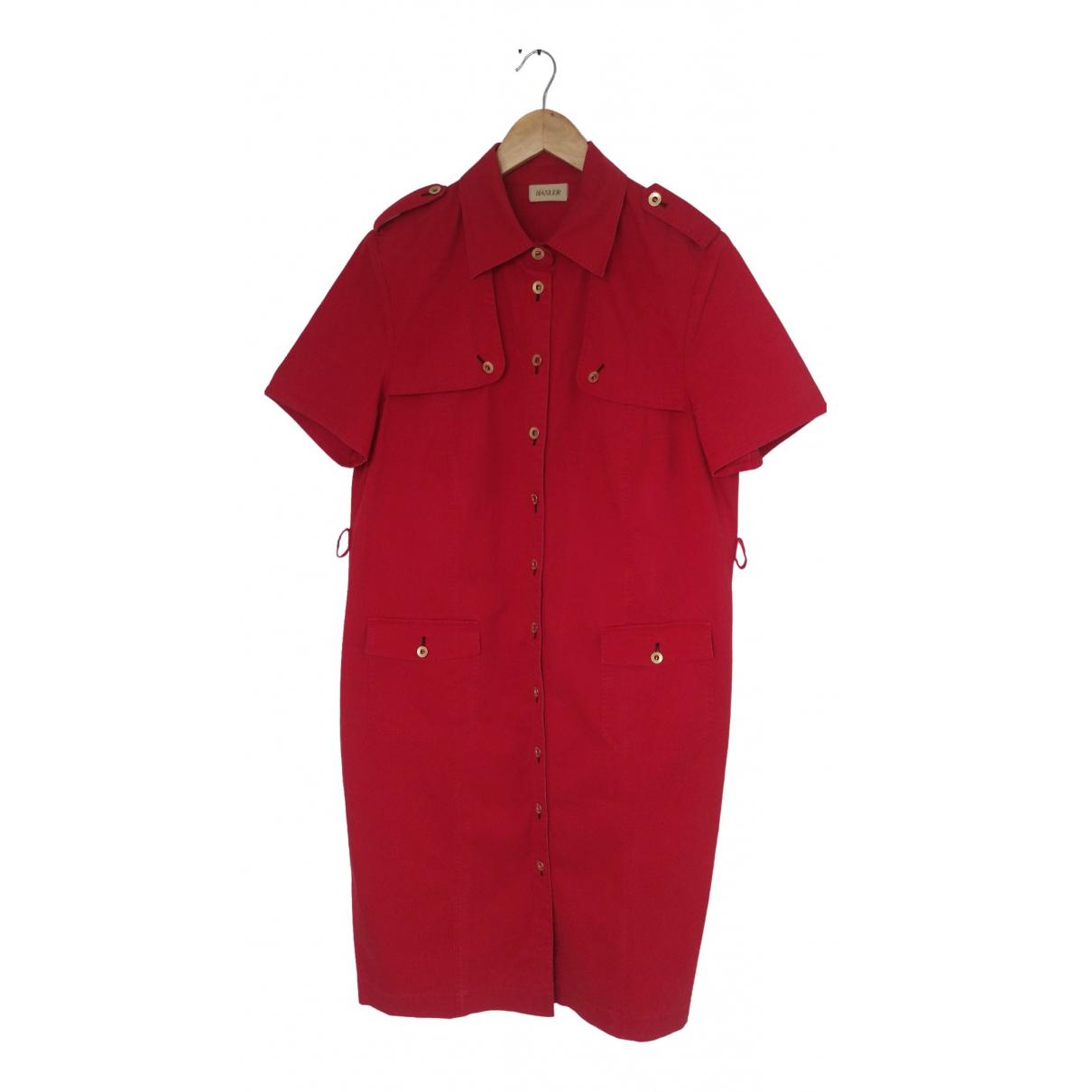 Basler - Robe   pour femme en coton - rouge