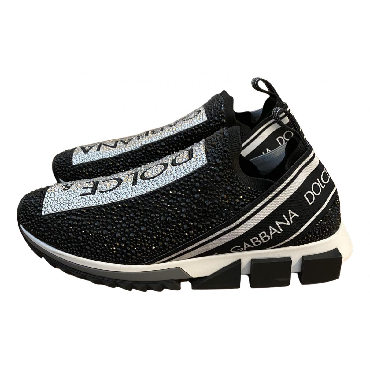Dolce & Gabbana Sorrento Sneakers in  Schwarz Mit Pailletten