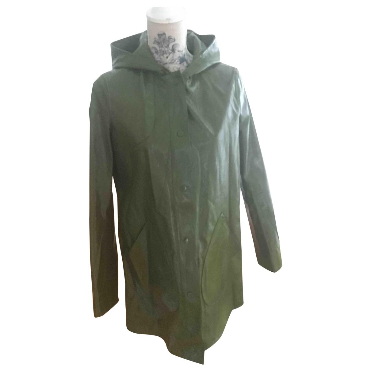 Zara \N Jacke in  Gruen Polyester