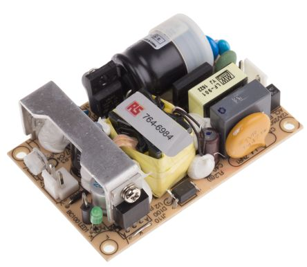 Mean Well , 25W Embedded Switch Mode Power Supply SMPS, 12V dc, Open Frame