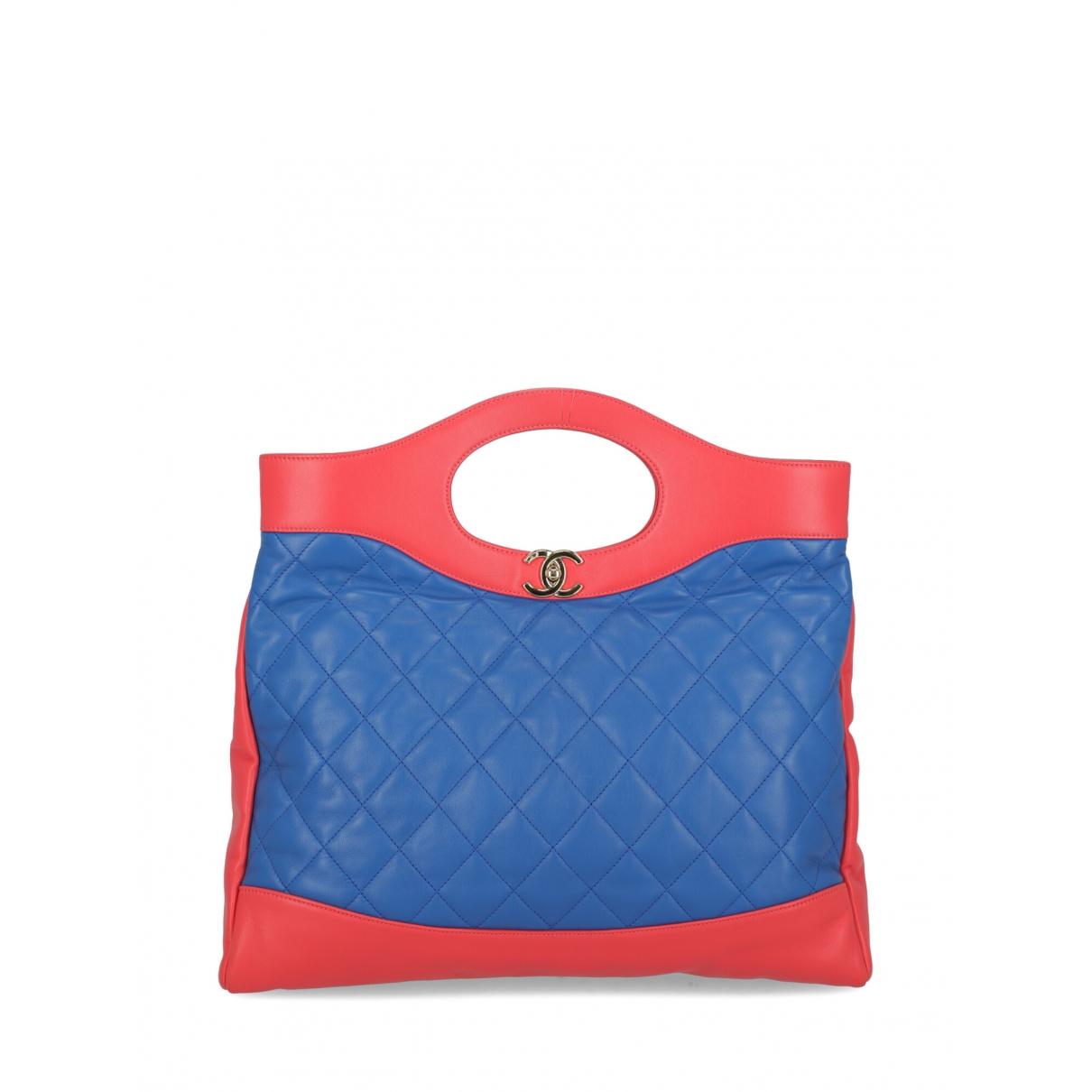 Chanel - Sac a main 31 pour femme en cuir - bleu