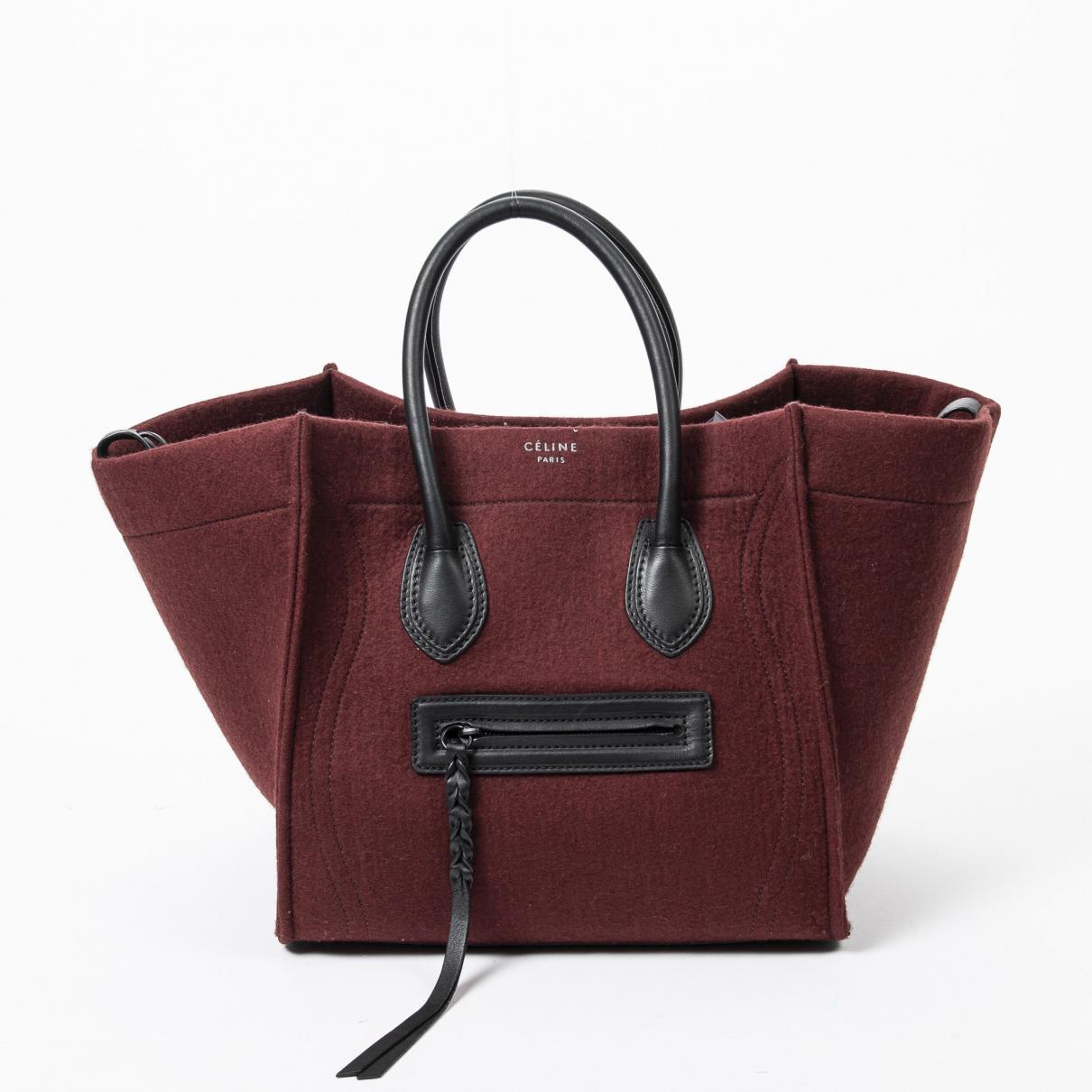 Celine - Sac a main Luggage Phantom pour femme en cuir - rouge