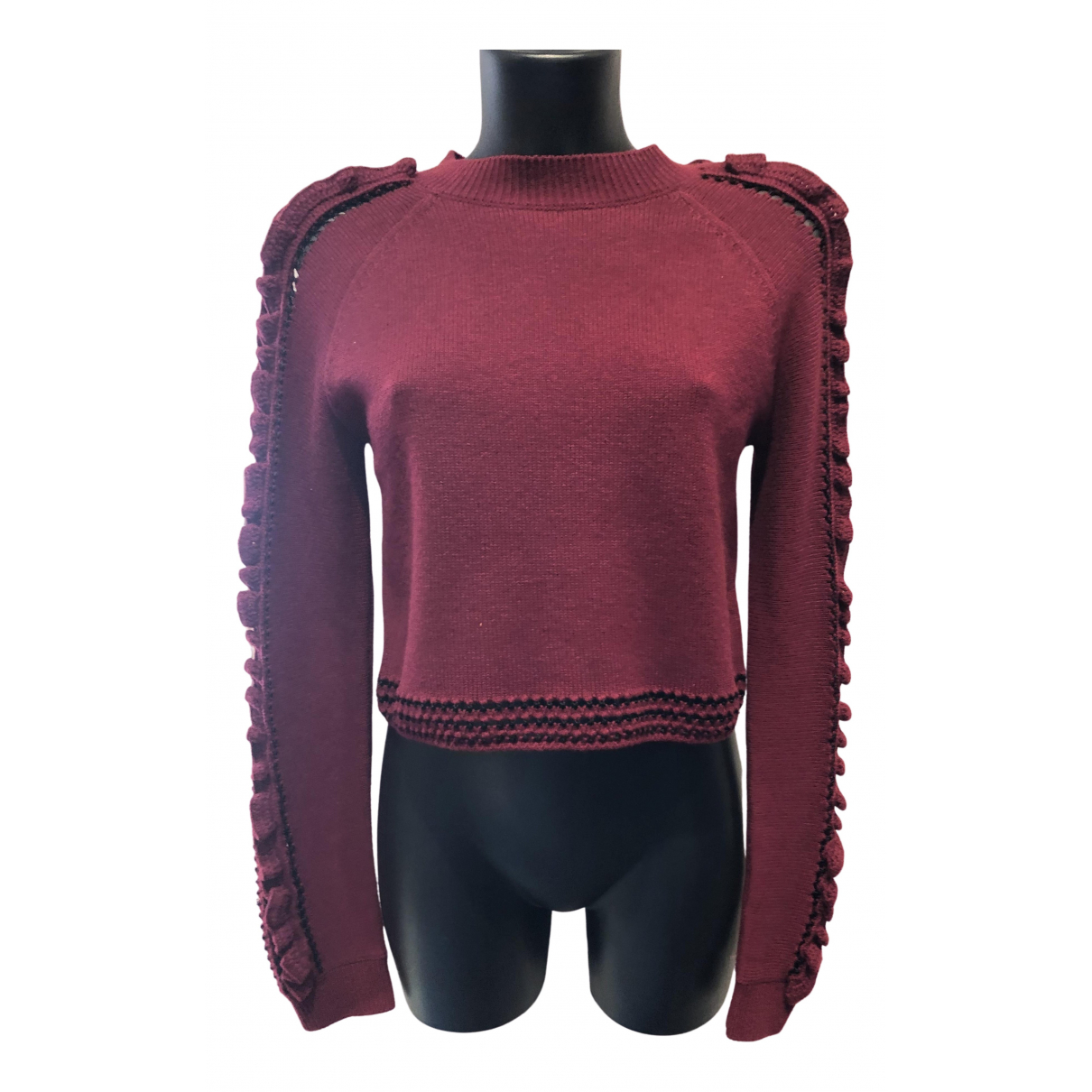 Jonathan Simkhai - Pull   pour femme en laine - bordeaux