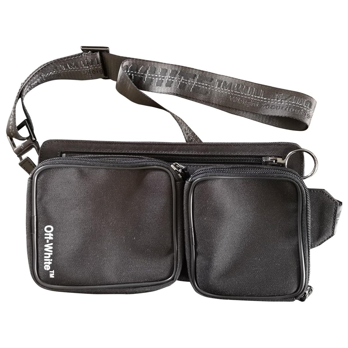 Off-white \N Black Cloth Small bag, wallet & cases for Men \N