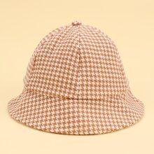 Toddler Girls Houndstooth Pattern Bucket Hat