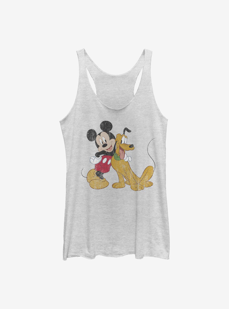Disney Mickey Mouse And Pluto Womens Tank Top