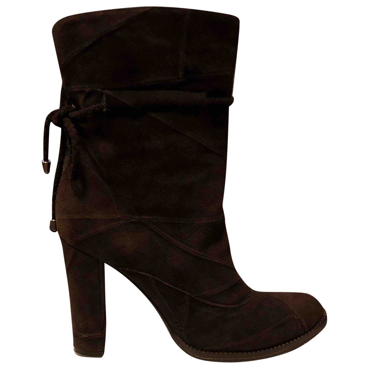 Alberto Guardiani \N Brown Suede Ankle boots for Women 38 EU