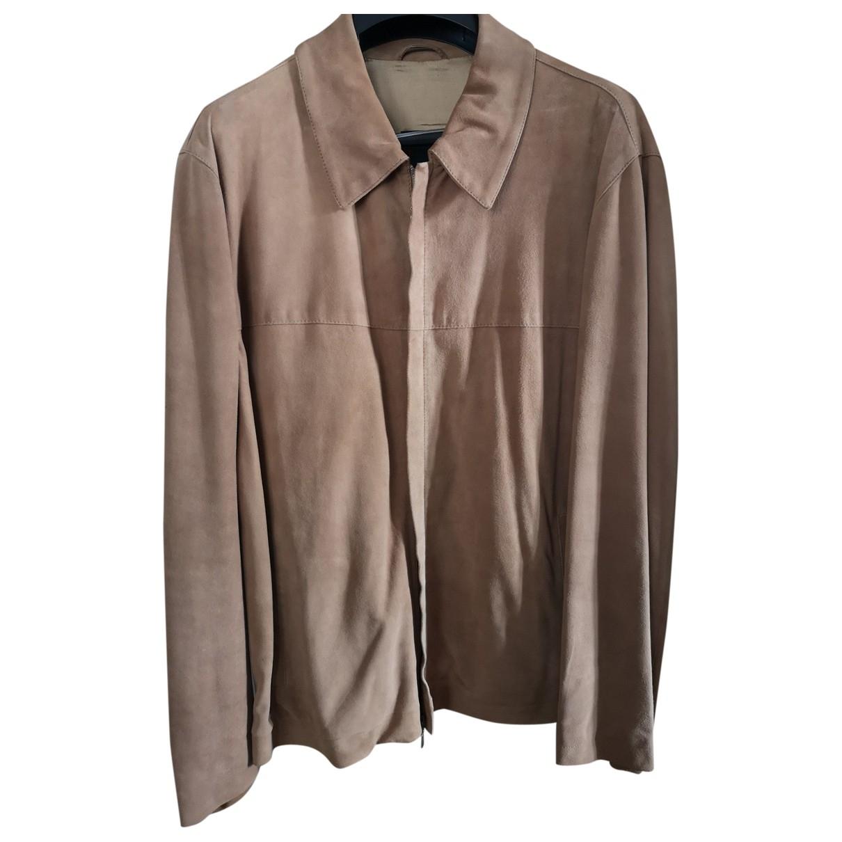Canali \N Beige Suede jacket  for Men 48 IT