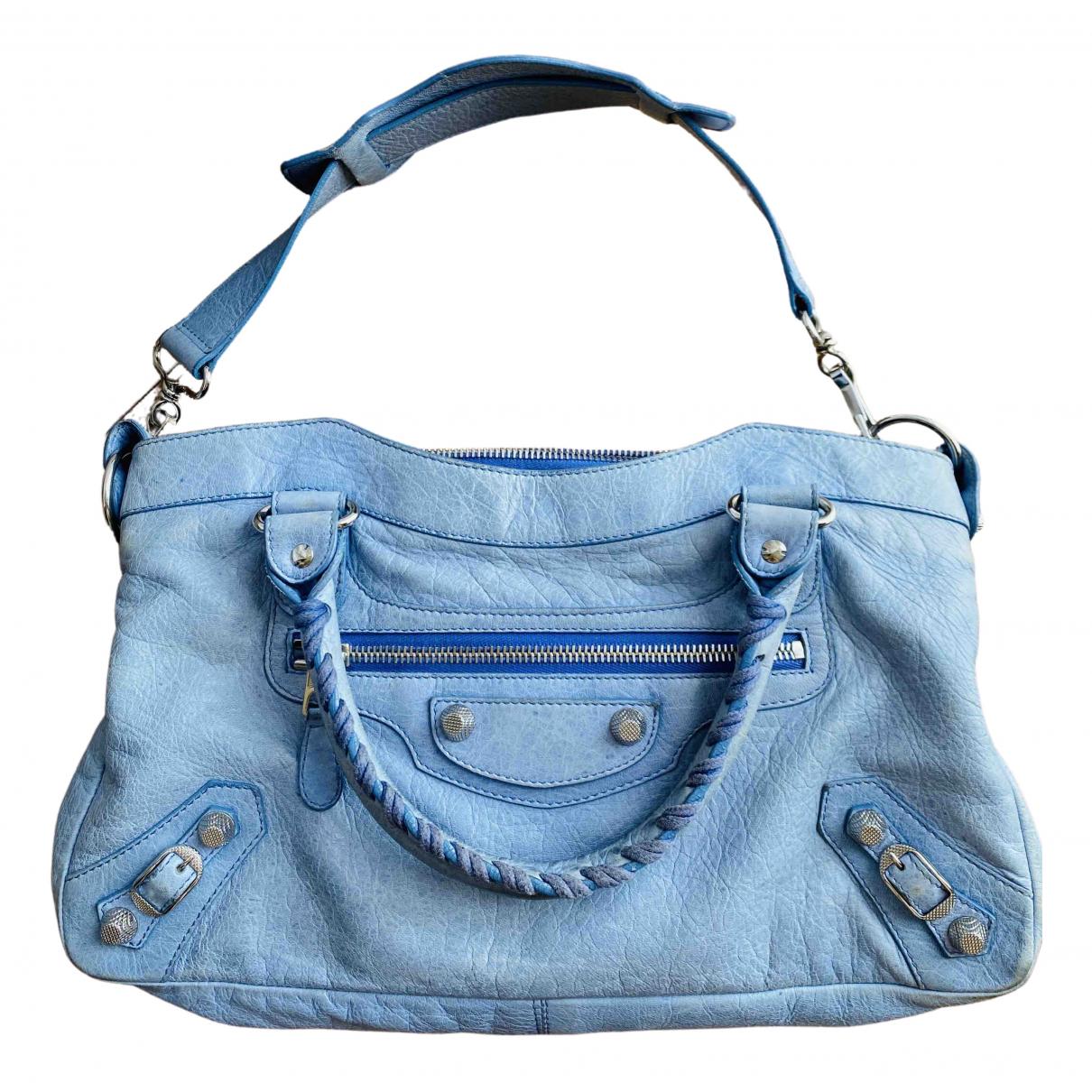 Balenciaga First Blue Leather handbag for Women \N