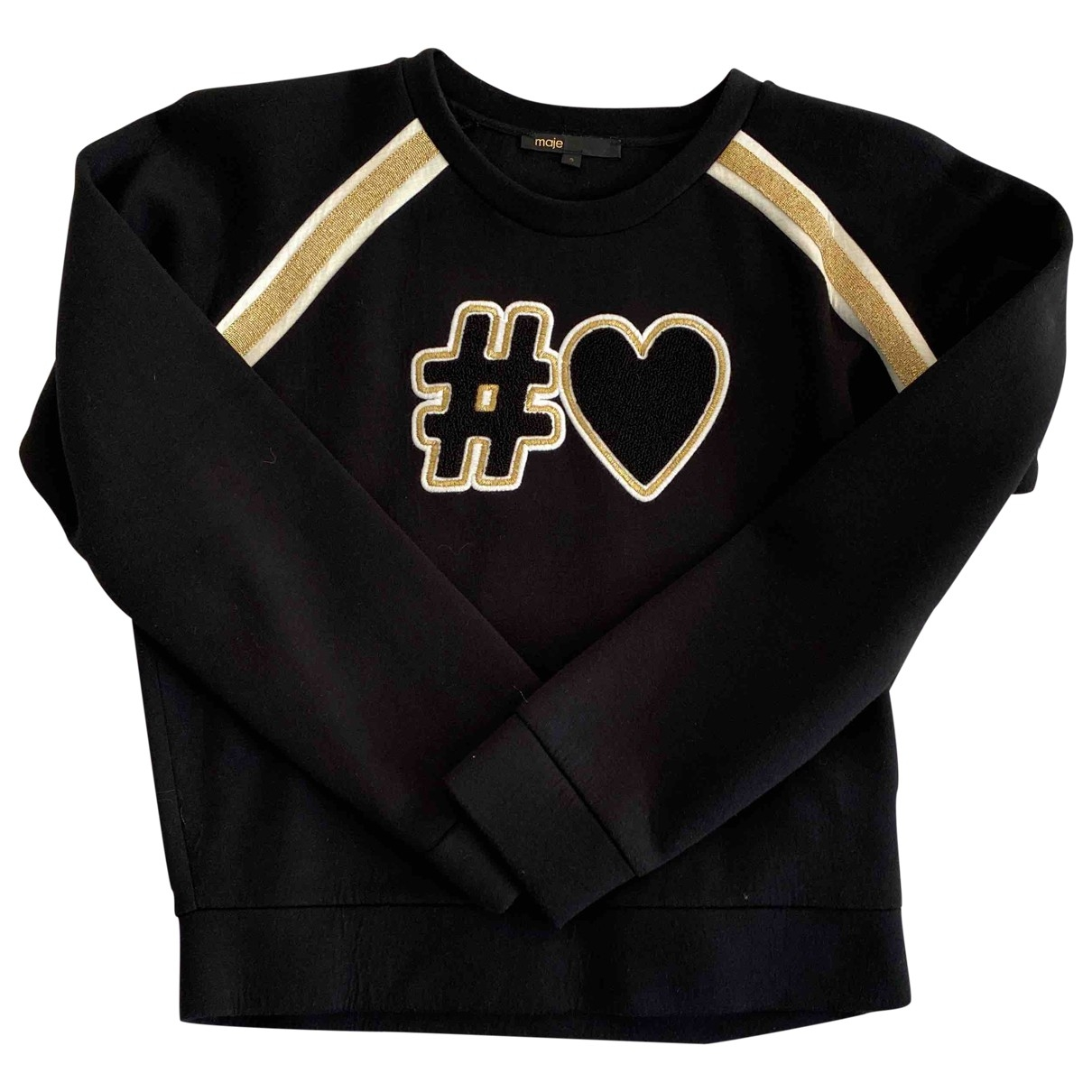 Maje \N Black Cotton Knitwear for Women 40 FR