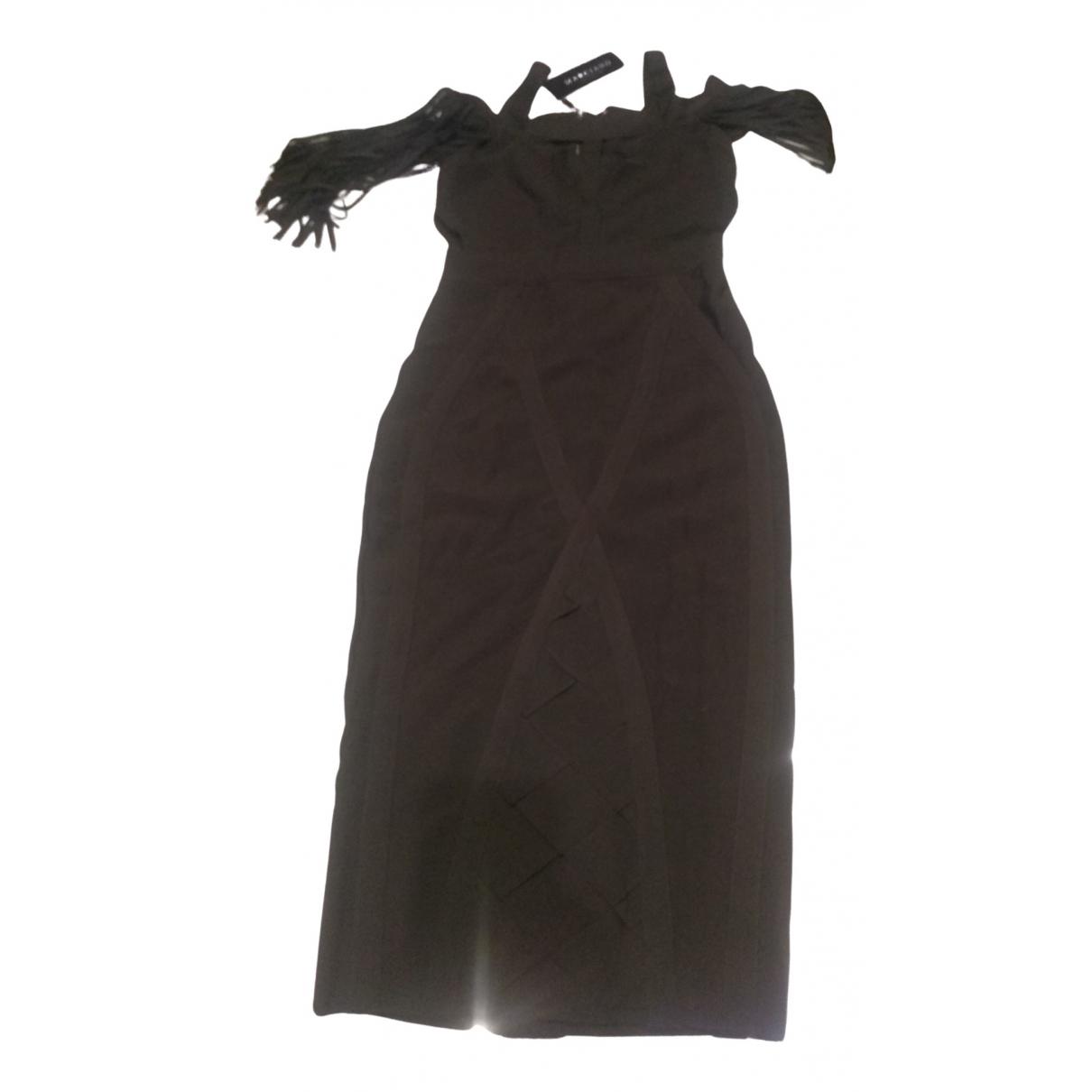 Guess - Robe   pour femme en coton - elasthane - kaki