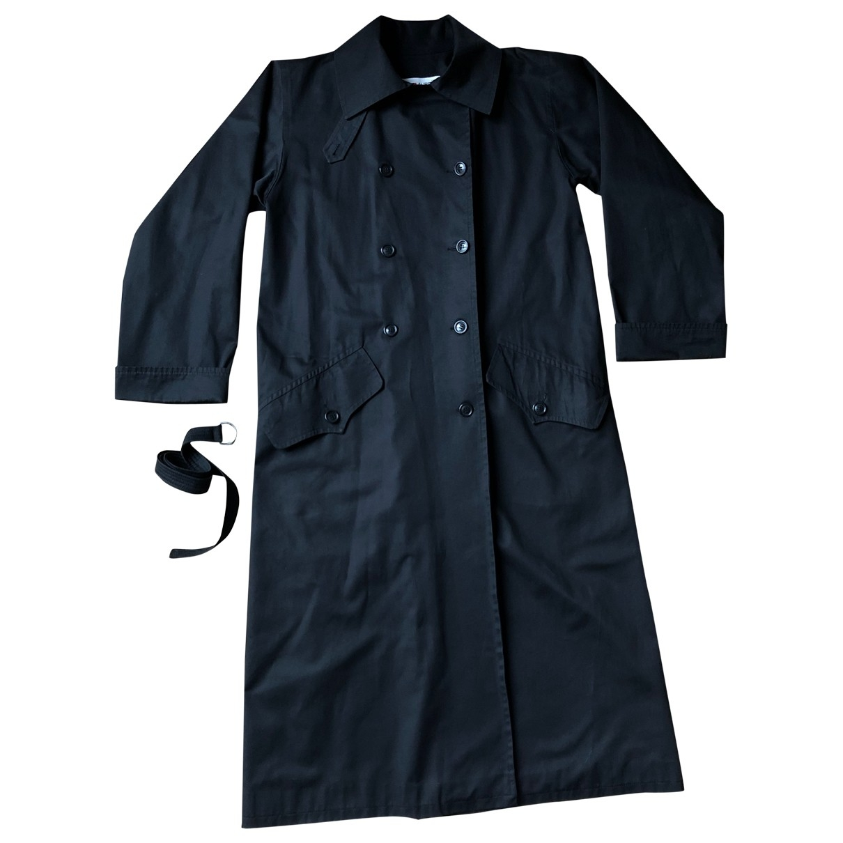 Yves Saint Laurent - Manteau   pour femme en coton - noir