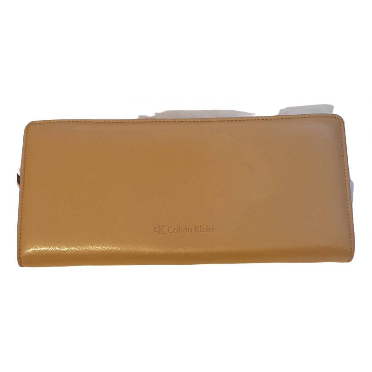 Calvin Klein \N Black Leather Purses, wallet & cases for Women \N