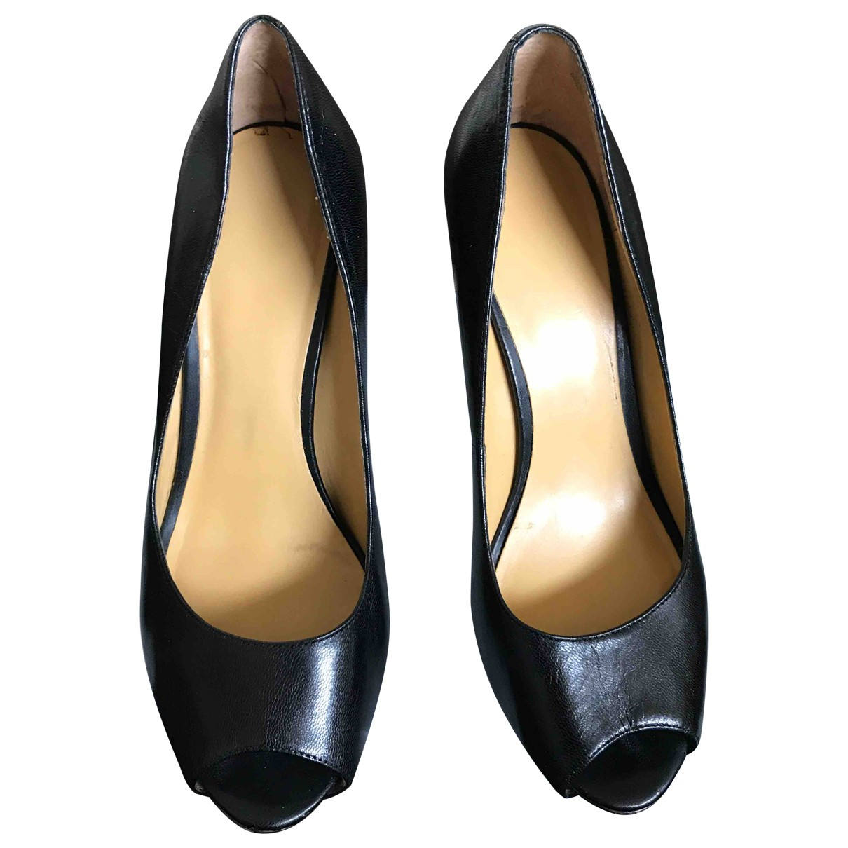 Nine West \N Black Leather Heels for Women 5 UK