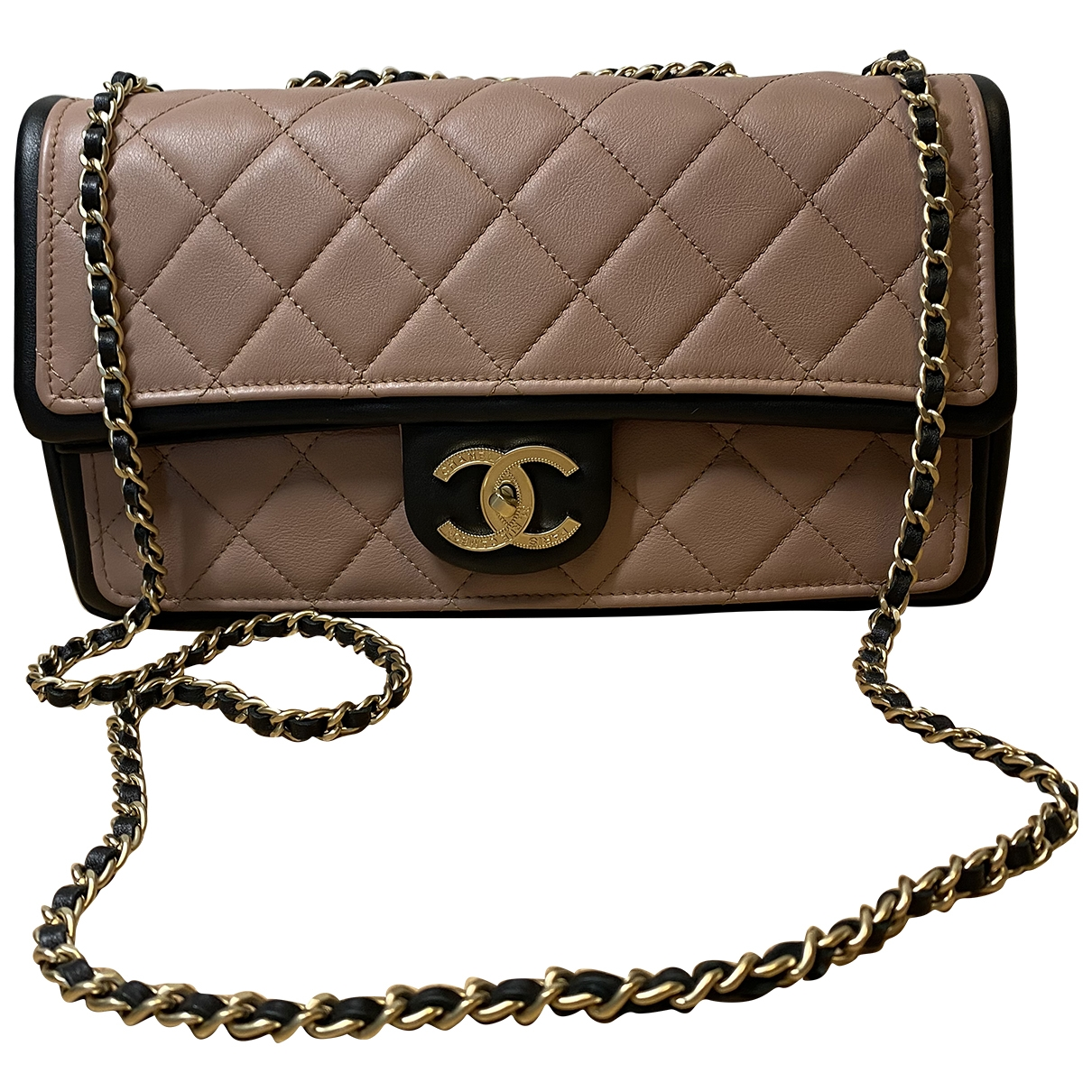 Chanel Timeless/Classique Beige Leather handbag for Women \N