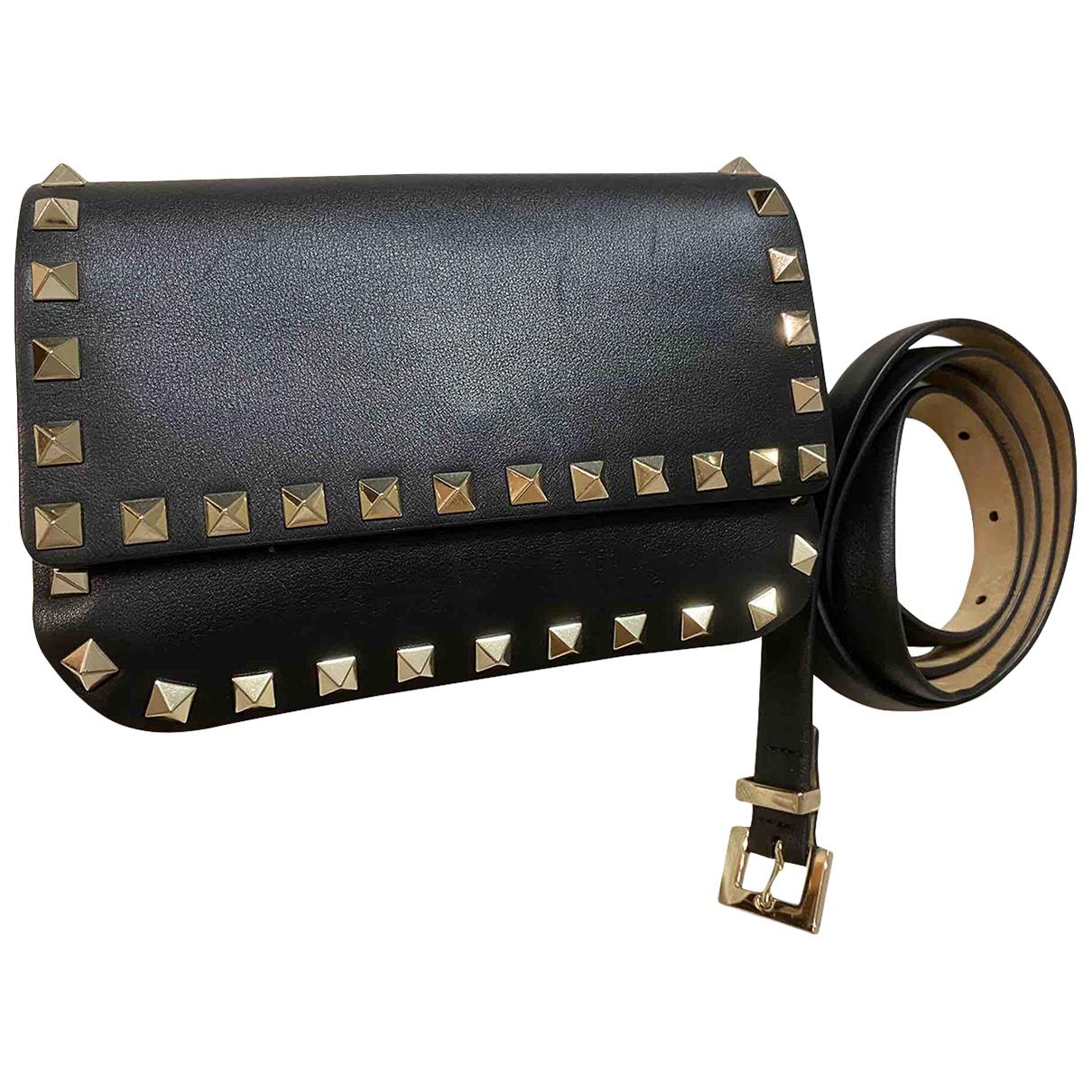 Valentino Garavani Rockstud Black Leather handbag for Women N