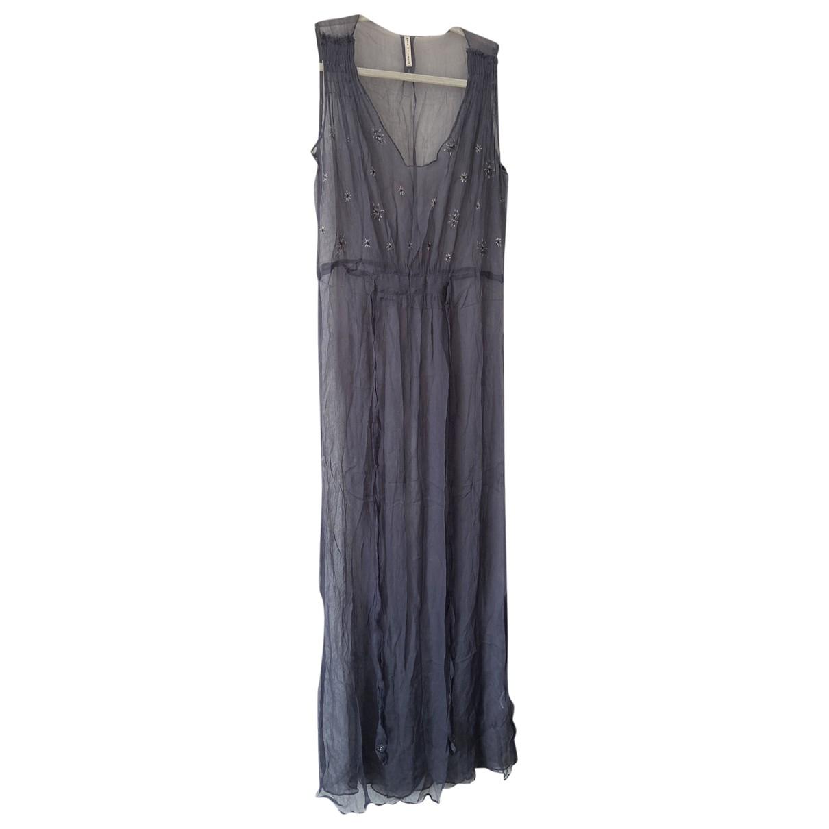 Mare Di Latte - Robe   pour femme en soie - bleu