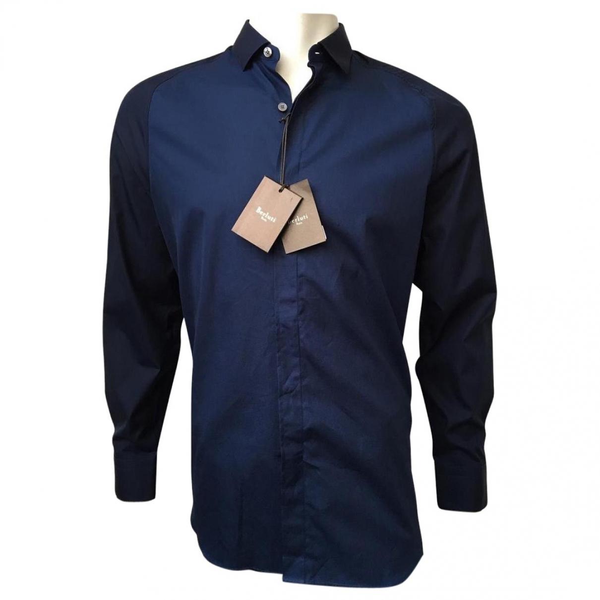 Berluti - Chemises   pour homme en coton - marine