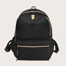 Zipper Front Backpack