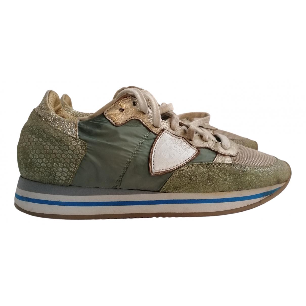 Philippe Model - Baskets   pour femme - vert