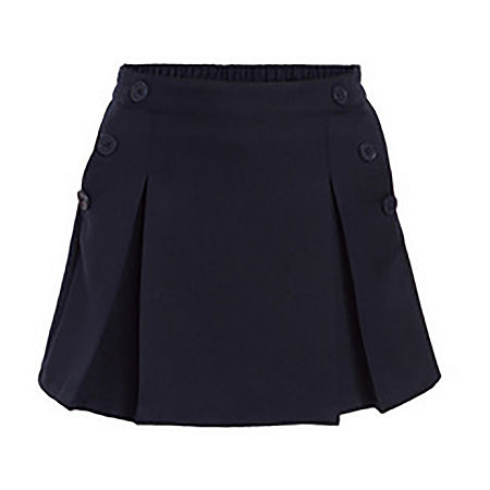 IZOD Comfort Waistband Girls Scooter Skirt, 20.5 Plus , Blue