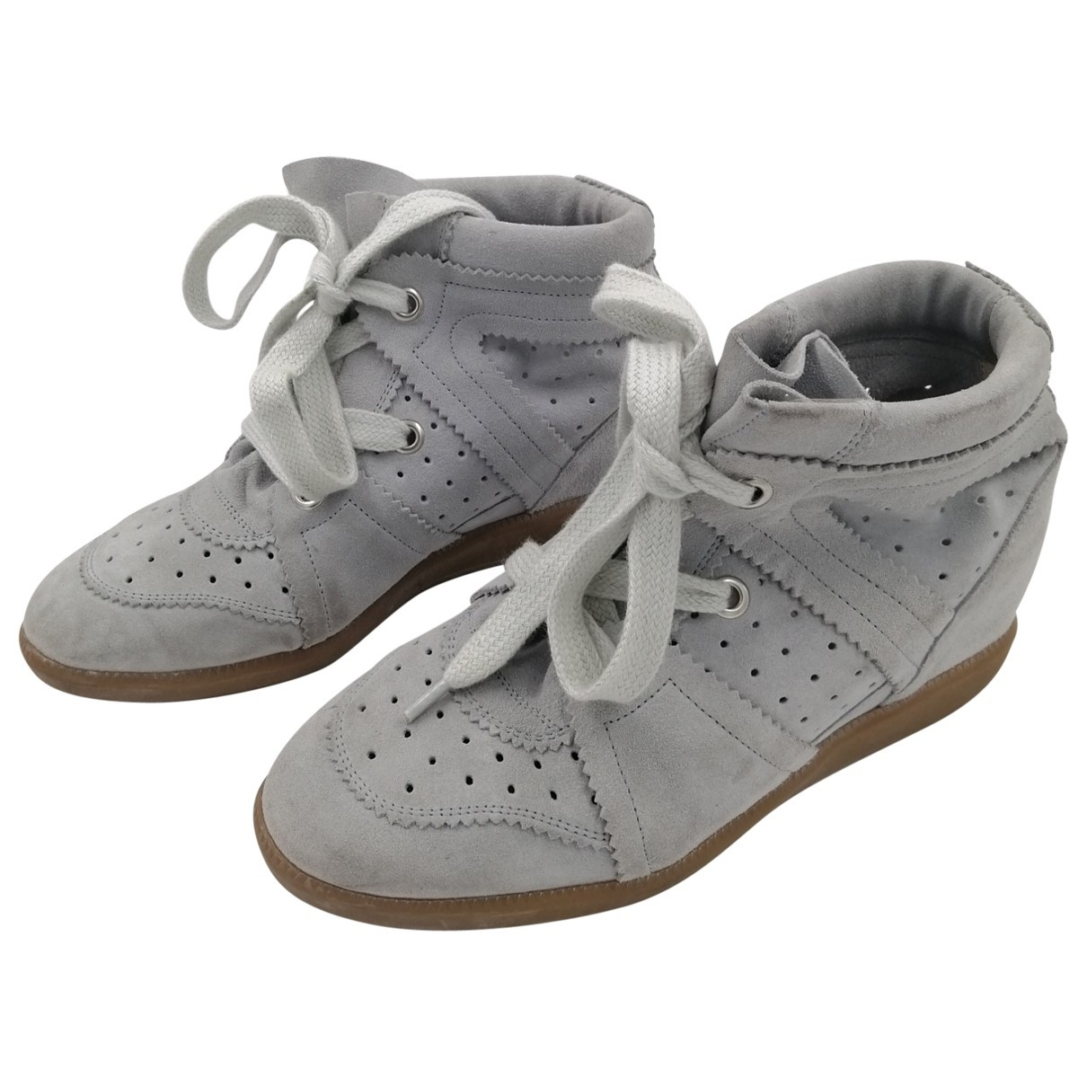 Isabel Marant Betty Grey Suede Trainers for Women 39 EU