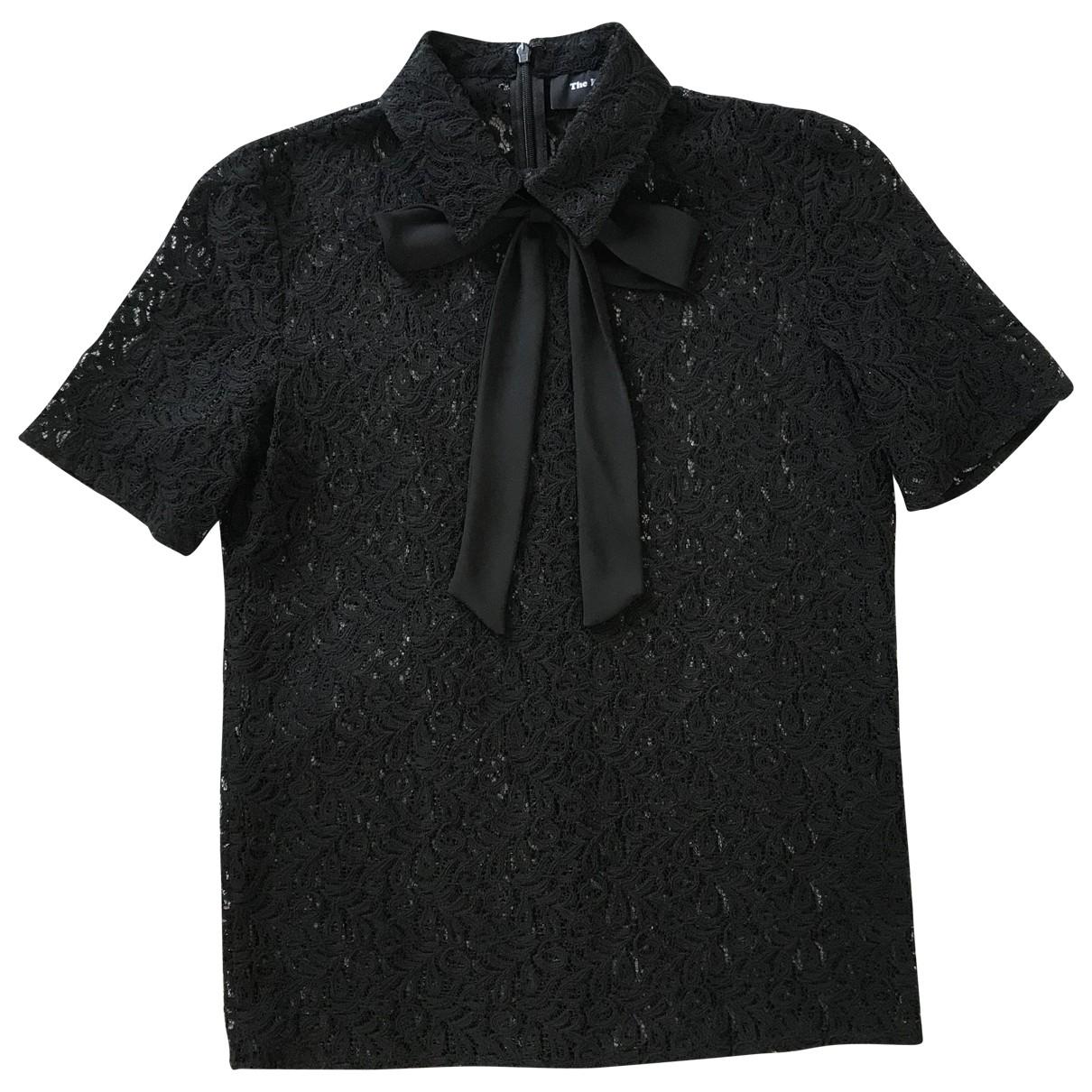 The Kooples - Top   pour femme en coton - noir