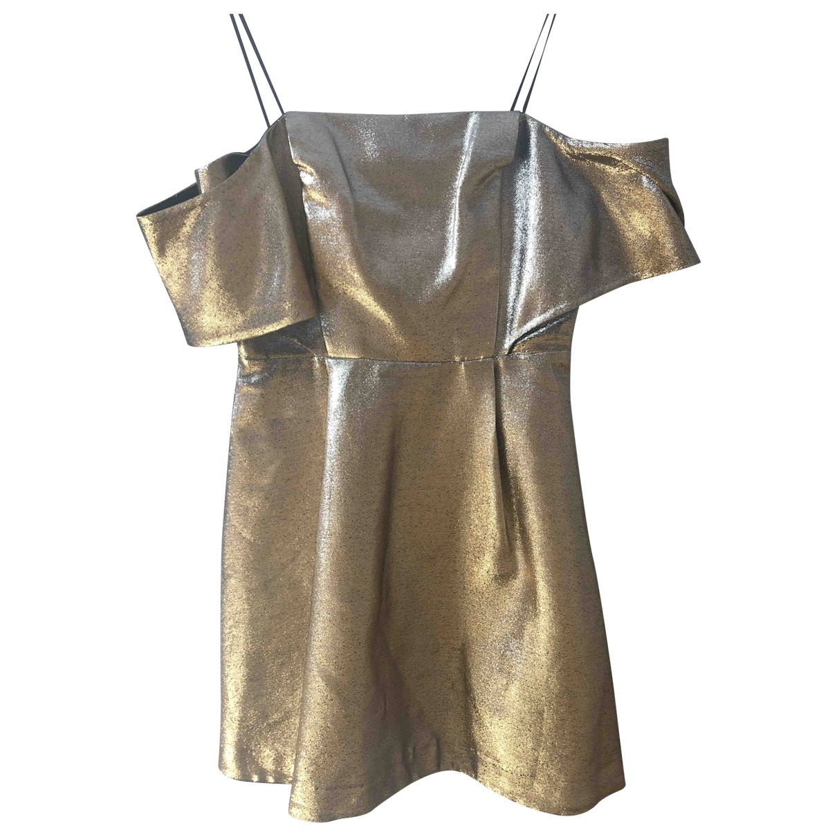 Sandro \N Gold Cotton dress for Women 38 FR