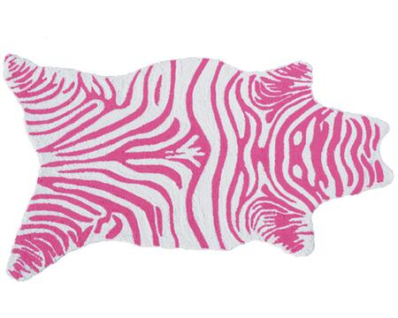 25618B 2.8 x 4.8 ft. Mini Zebra Area Rug  in Pink and