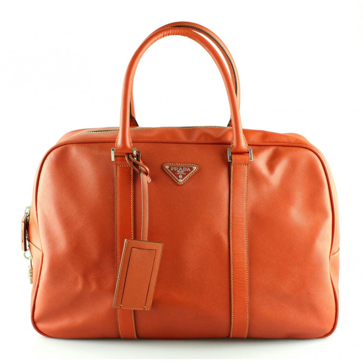 Prada \N Orange Leather Travel bag for Women \N