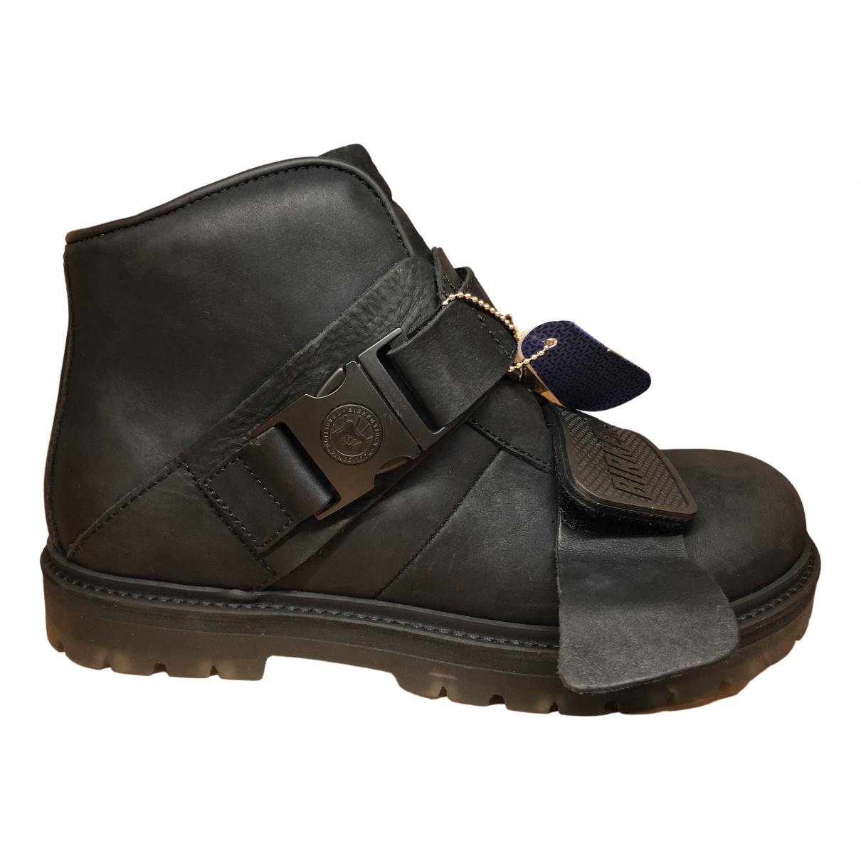Birkenstock - Bottes   pour femme en cuir - noir