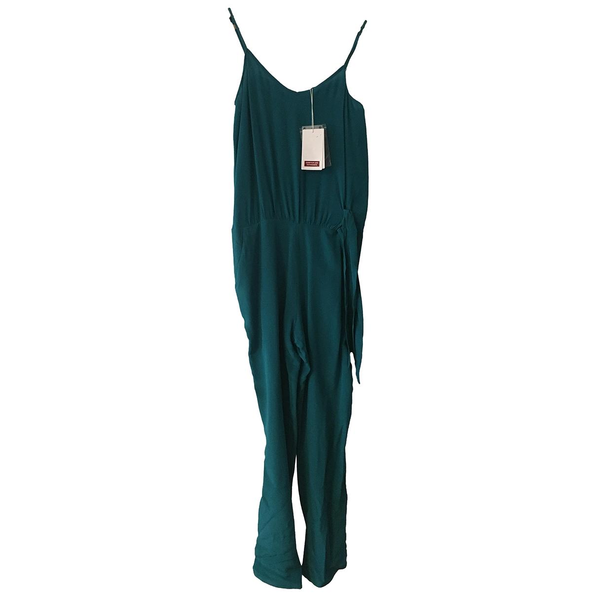 Comptoir Des Cotonniers - Combinaison   pour femme en soie - vert