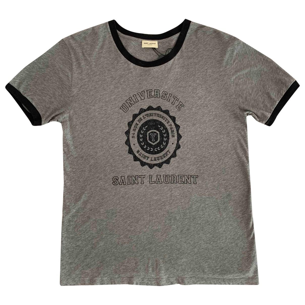 Saint Laurent - Top   pour femme en coton - gris