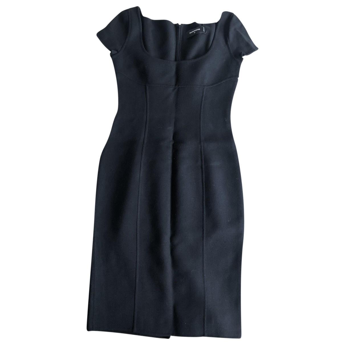 Dsquared2 \N Black Wool dress for Women 44 IT