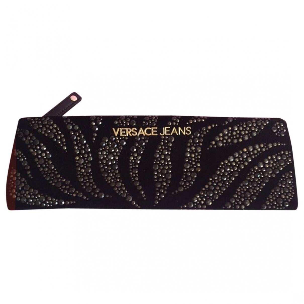 Versace Jeans \N Black Velvet bag for Men \N