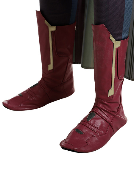 Milanoo Marvel Avengers Vision Cosplay Shoes Red Boots