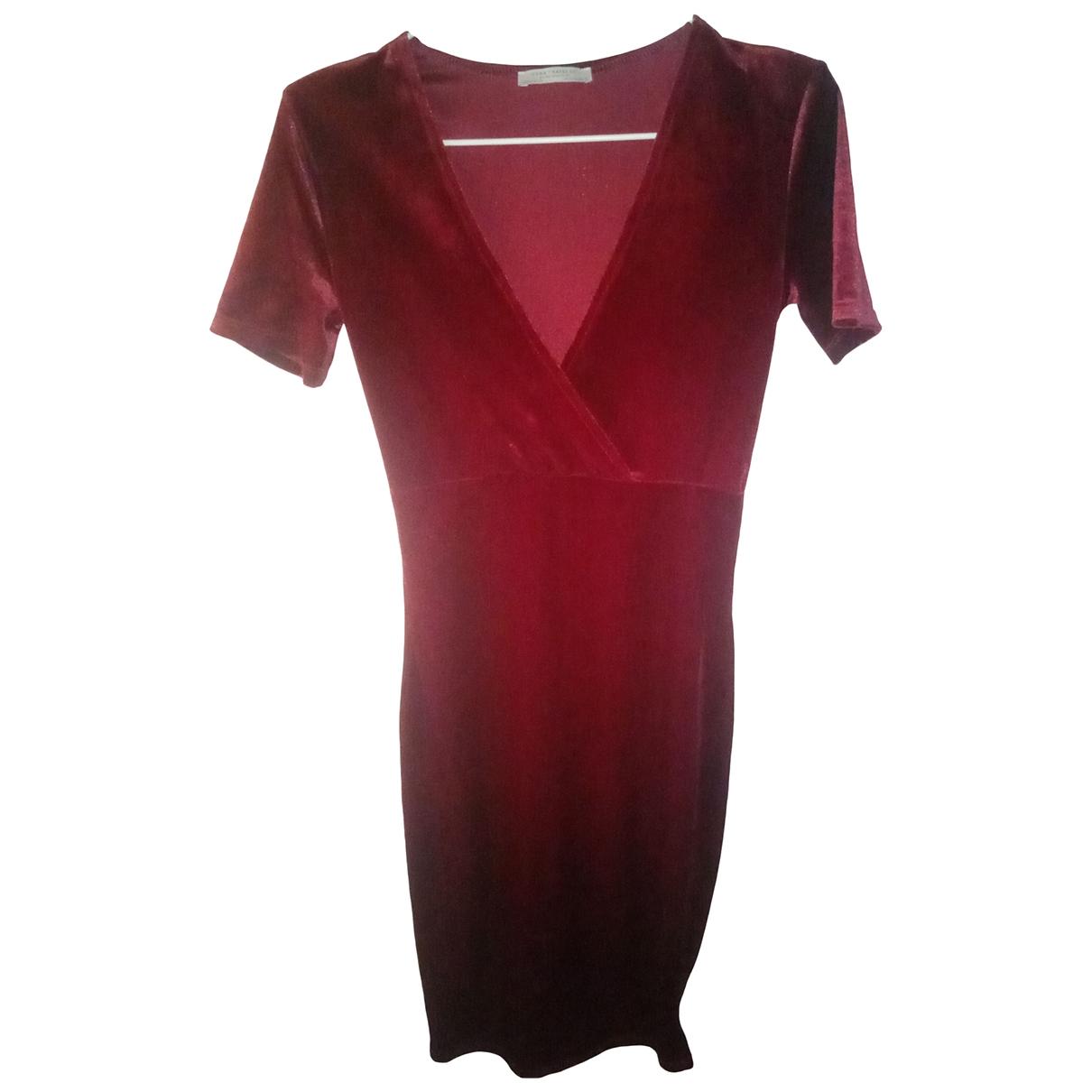 Zara \N Kleid in  Rot Samt