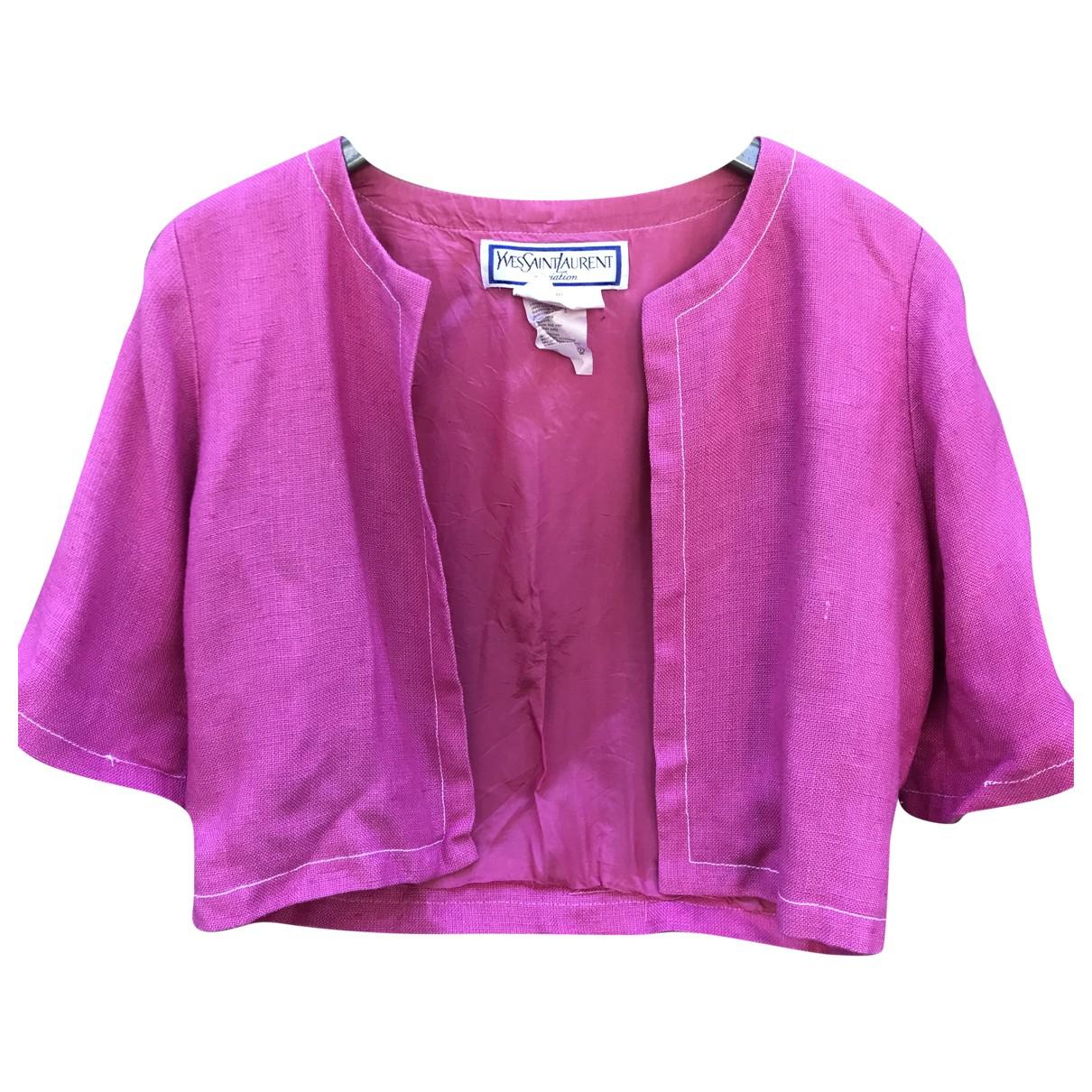 Yves Saint Laurent \N Pink jacket for Women 40 FR