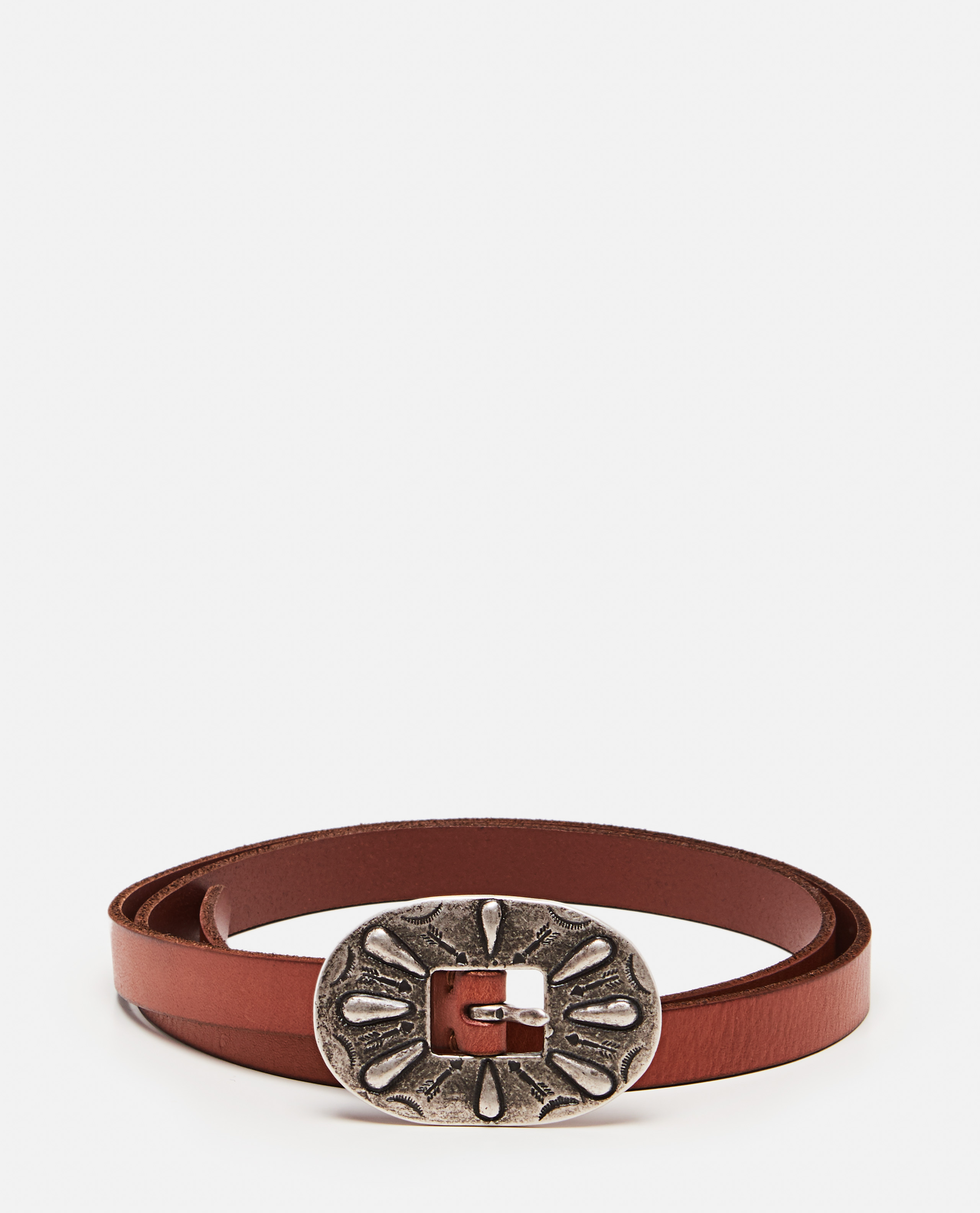 Belt with oversized buckle