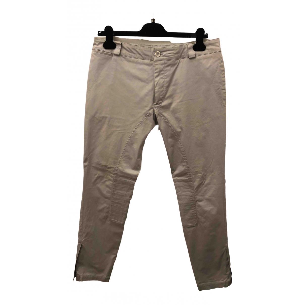 Pantalones en Algodon Gris Ermanno Scervino