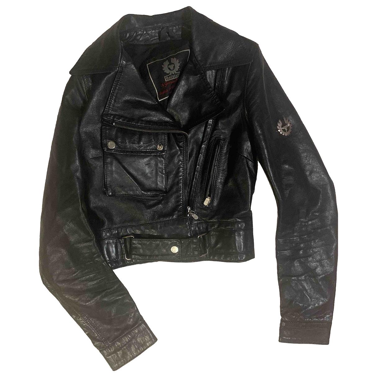 Belstaff - Veste   pour femme en cuir - noir