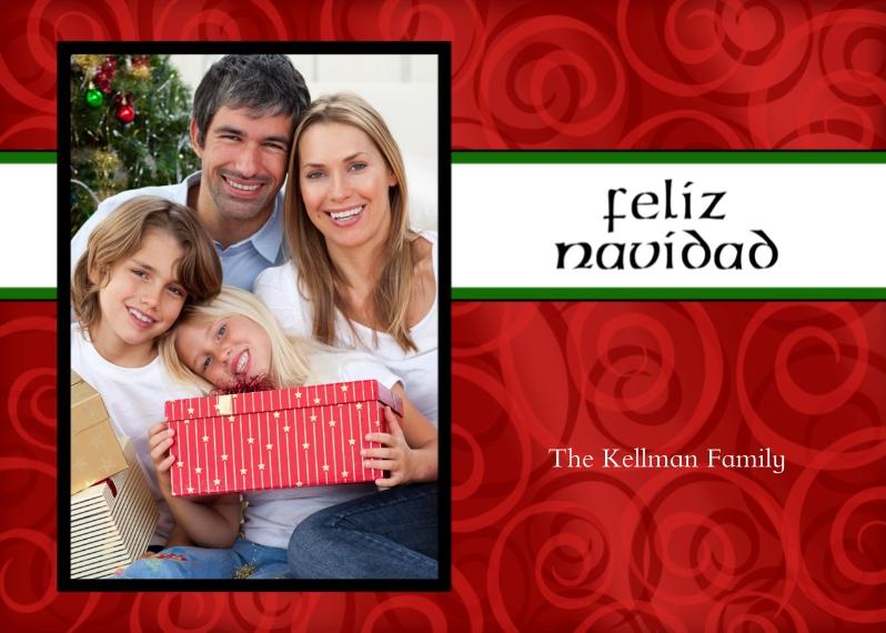 Christmas Photo Cards 5x7 Cards, Premium Cardstock 120lb with Elegant Corners, Card & Stationery -feliz navidad