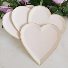 8 Stuecke Herz formige Einwegplatte