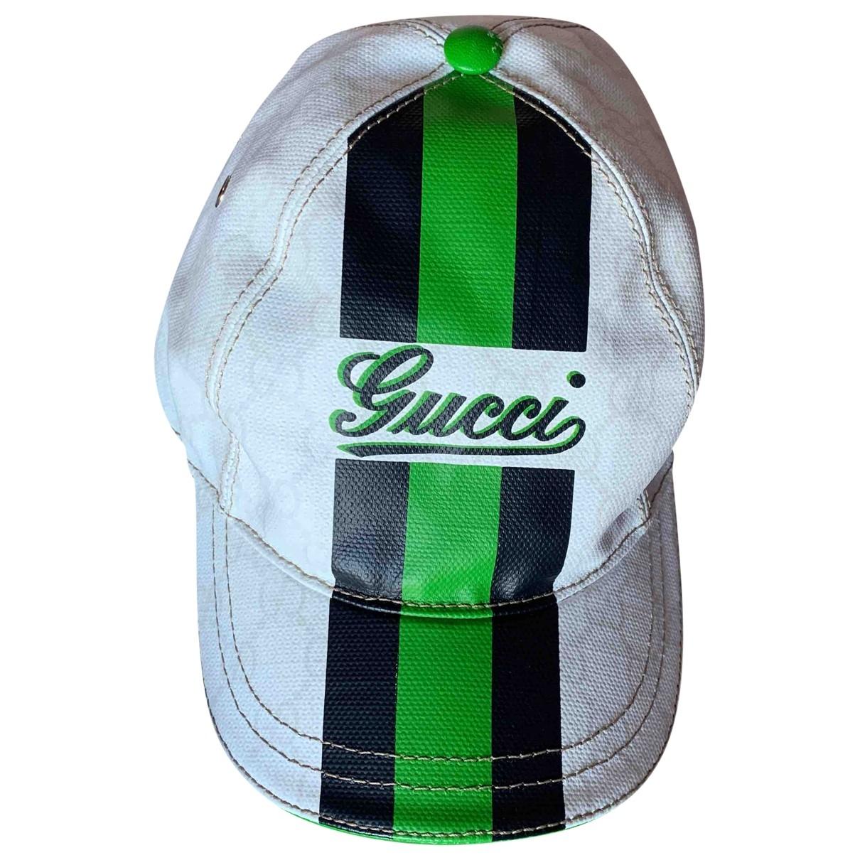 Sombrero. Gorro. Guante en Lona Blanco Gucci