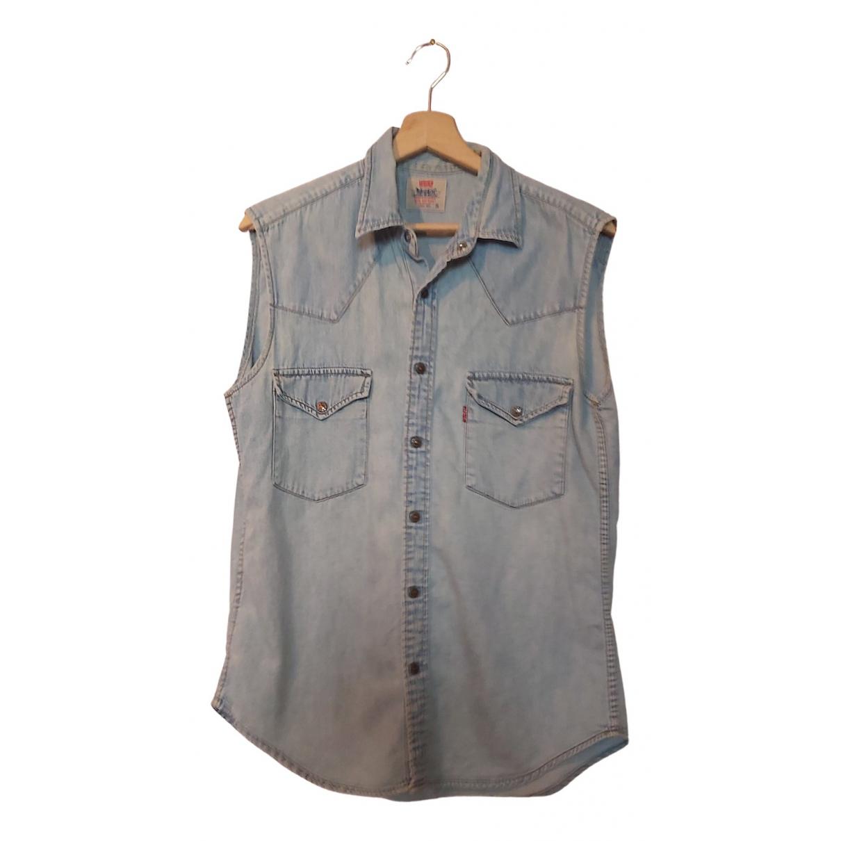 Levis - Chemises   pour homme en coton - bleu