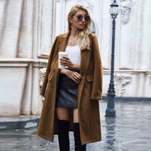 Zweireihiger Mantel mit Reverskragen