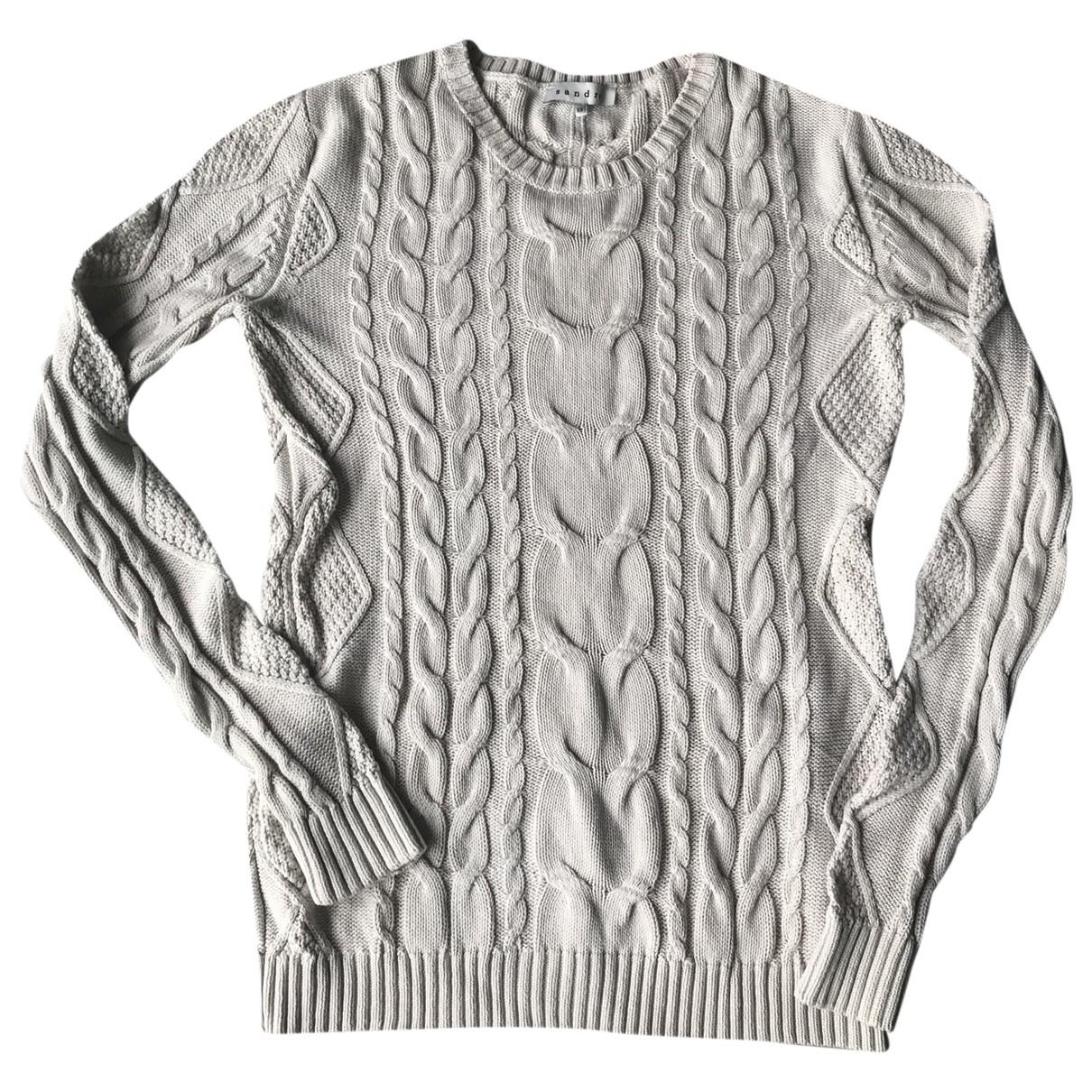 Sandro \N Pullover.Westen.Sweatshirts  in  Beige Leinen