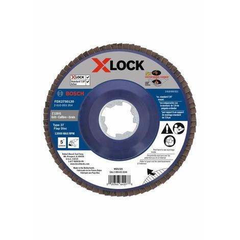 Bosch 5 In. X-Lock Arbor Type 27 120 Grit Flap Disc