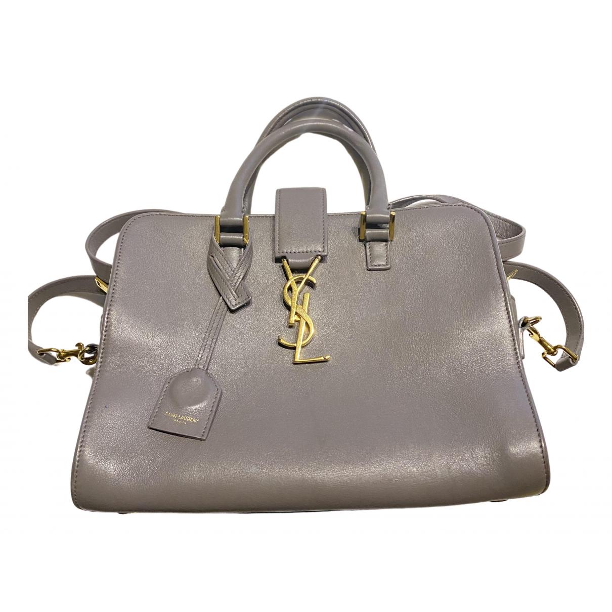 Saint Laurent Monogram Cabas Grey Leather handbag for Women N