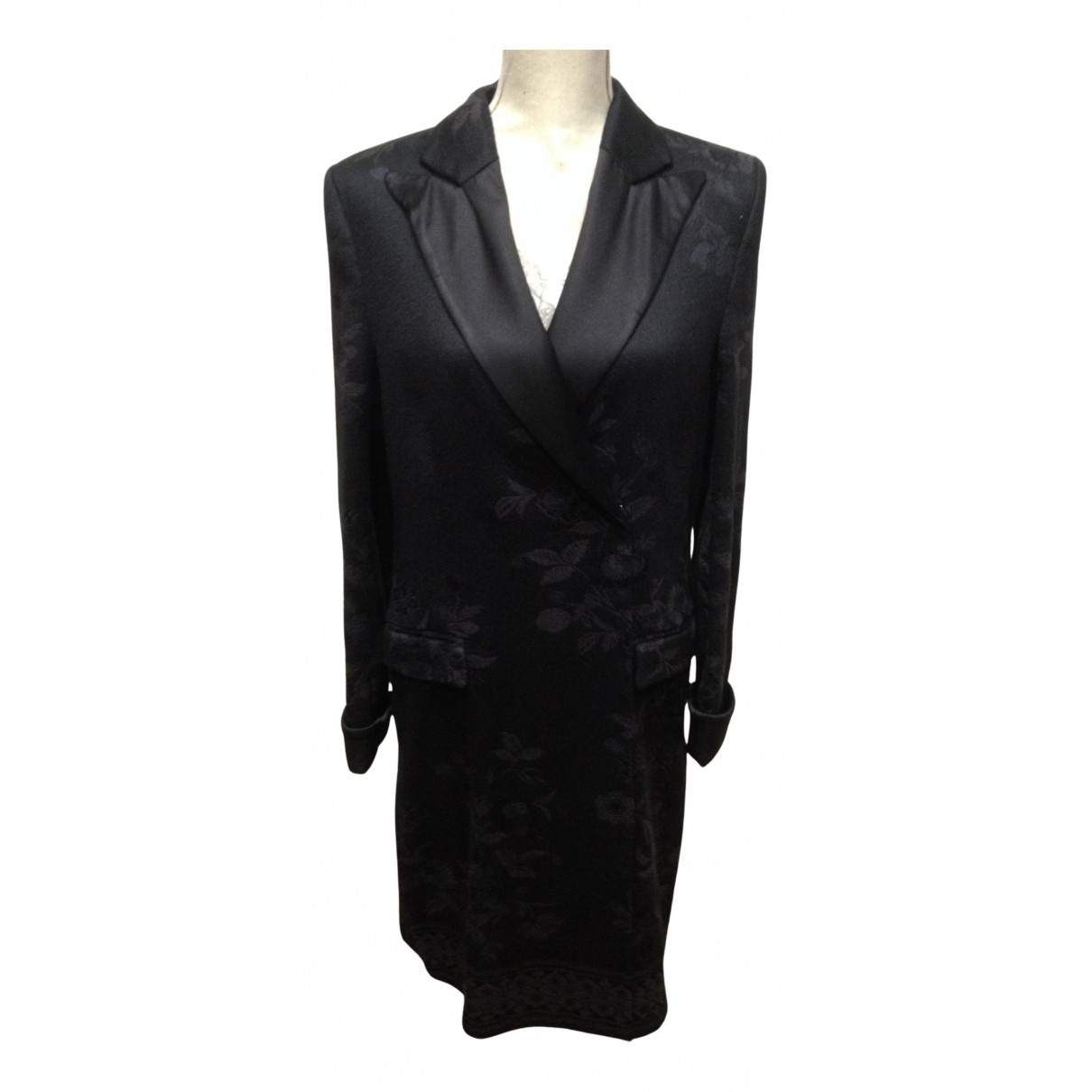 Alberta Ferretti \N Black Cotton coat for Women 42 IT